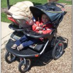 Double Jogging Stroller For Newborn And Toddler