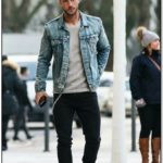 Blue Jean Jacket Outfits Male