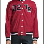 Red And Black True Religion Jacket