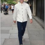 White Jean Jacket Mens Outfit